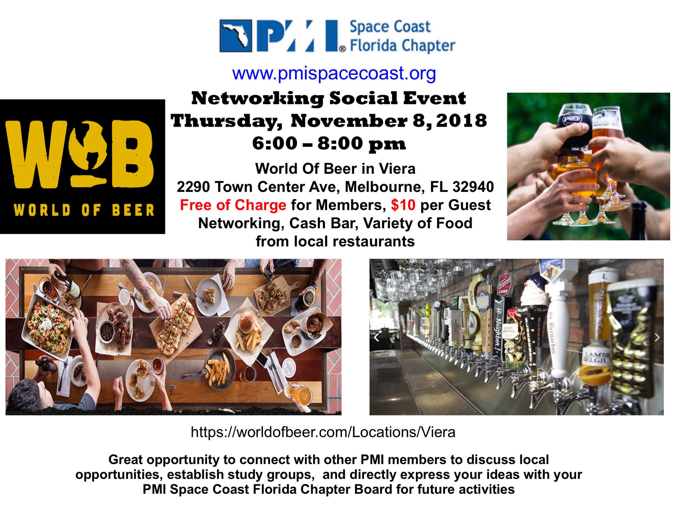 Networking Social Flyer November 2018